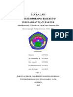 Sistem Informasi Eksekutif Pada Perusahaan Manufaktur 'Tugas SIE Kelas A_4113010_4113018_4113022_4113023_4113033'