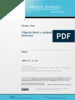 Objetividad y Subjetividad en La Historia