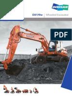 Doosan DX170W Rubber Tyred Excavator