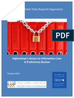 2015 10 14 - Afghanistan's Access to Information Law - A Preliminary Review