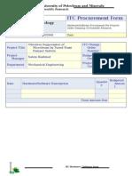 ITC Procurement Form