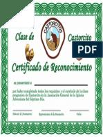 Certificado Castorcito