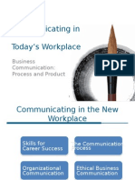 Chapter 01 Communicating in Today's Workplace