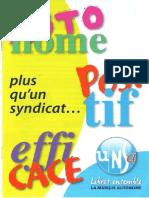 Brochure UNSA Plus Qu'Un Syndicaliste