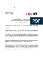 Le Groupe CANAL+ et iROKO s'associent
