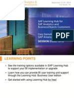 0413 SAP Learning Hub for SAP Analytics and SAP BusinessObjects Customers