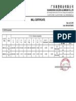 Mill Certificate - 2015.7.24