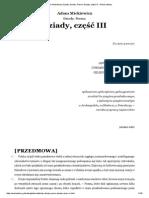 Adam Mickiewicz, Dziady 3