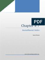 Installment Sales (1) aDVAC