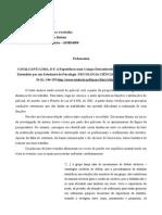 Ficha - CAVALCANTI LIMA, D.F. a Experiência Num Campo Desconhecido a Instituição Policial Entendida Por Um Estudante de Psicologia