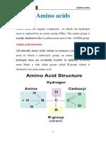 Chemistry of Amino Acid
