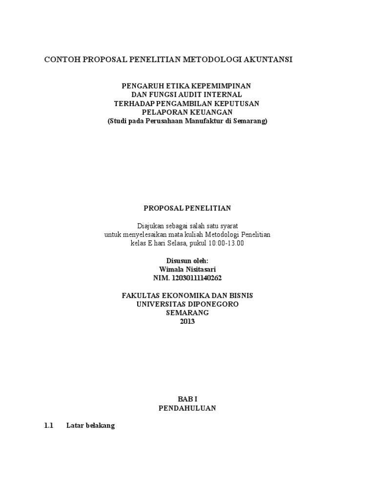Contoh Proposal Skripsi Akuntansi Pdf File Forgefasr