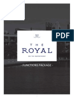 Function Package - The Royal On The Waterfront