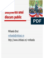 Sustinerea Unui Discurs Public de Mihaela Brut
