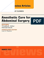 Anesthetic Care Fr Amdominal Surgery - Anesthesiology Clinics