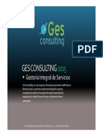 GES CONSULTING 2015 Dossier