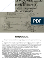 Instrumente utilizate in determinarea temperaturii aerului si a solului