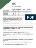 2ª Lista de Exercícios 2015.2 UVA Química Analítica