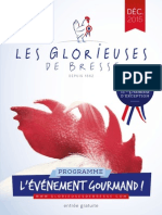 Le programme des Glorieuse de Bresse 2015