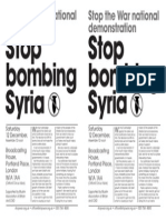 Updated - StW Syria Protest 12 Dec With Details