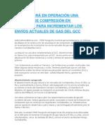 YPFB PONDRÁ EN OPERACIÓN UNA ESTACIÓN DE COMPRESIÓN EN CARRASCO PARA INCREMENTAR LOS ENVÍOS ACTUALES DE GAS DEL GCC.docx