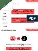 Modal Verbs (1BACH)