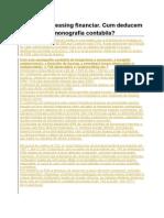 Contract de Leasing Financiar