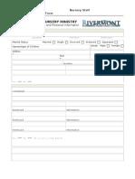 Nursery Staff-EmploymentApplication & Personal Information Form [Form 3]X