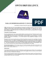 DRIVER LINUX PARA LOS MODEM BASADOS EN CT-350, EAGLE, SAGEM