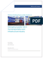 57 Managing Supplier Risk in the Transportation and Infrastructure Industry