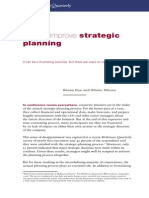 How to Improve Strategic Planning