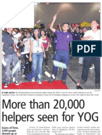 More than 20,000 helpers seen for YOG