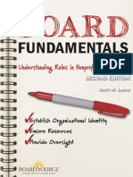 Board Fundamentals Understanding Roles in Nonprofit Governance BoardSource Digital Book