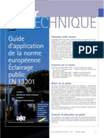 Guide Application En13201 Sitelec Marseille