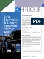 Guide Application En13201 Sitelec Marseille