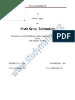 CSE Sixth Sense Technology Report