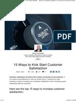 15 Ways to Kick Start Customer Satisfaction _ Steve Cartwright _ LinkedIn