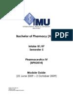 Pharmaceutics IV