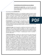 Documentos de Exportación de Peru Hacia El Brasil