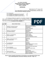 Law Officer Special Officer 2014 Written Result