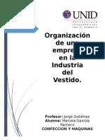 Estructura ORGANIZACIONAL Confeccion y Maquinas