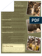Water Facts Flyer