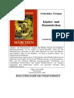 Jacob Grimm, Wilhelm Grimm, Paul Hey-Kinder und Hausmärchen - Gebrüder Grimm-Thienemann (1999)