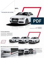 Audi S line selection for A3, Q3 and Q5