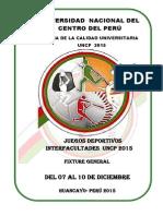 Semana Universiataria Reglamento y Fixture de Deportes Uncp 2015