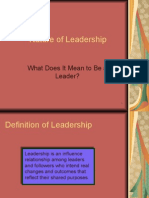 Nature of Leadership and Leadership Theories
