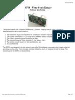 SRF04 Technical Documentation