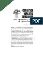 O CONCEITO de DISPOSITIVO EM FOUCAULT- Midia e Produção Agonistica de Sujeitos-maternos
