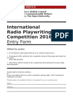 0c1e950ebb International Radio Playwriting Competition 2016