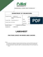 Elbow and Bend fluid mechanics report